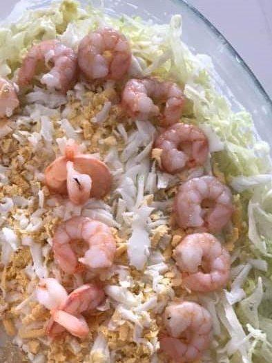 Ensaladilla de Merluza y Gambas, ensaladilla de merluza, ensaladilla de pescado