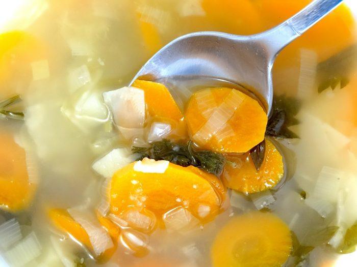 Caldo de Verduras, sopa de verduras, base de crema